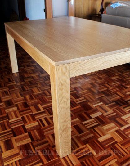 mesas a medida cad madera roble