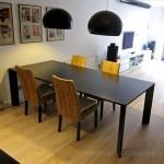 Mesa realizada en DM y lacada en negro