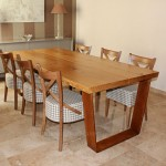 Mesa maciza medida madera roble francés patas hierro