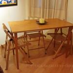 Mesa a medida, madera de abedul y haya