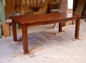 Taula rustica extensible mida fusta roure