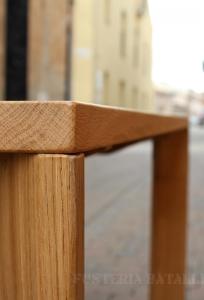 Taula de fusta de roure quadrada